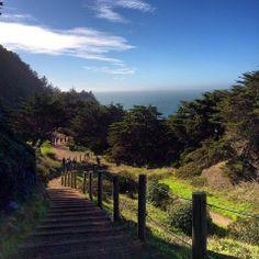 Go for a run along San Francisco's Coastal Trail.  You won't be sorry!
