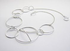 Small Orrery Necklace, sterling silver.