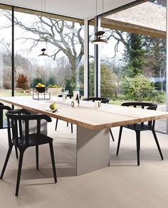 Boen wood floors have launched a new surface finish called Live Pure, thanks to new surface finish technologies - wood flooring Stavanger, Architect Design House, House Design, Wood Parquet, Hardwood Floors, Click Flooring, Pure White, Dining Table, Pure Products