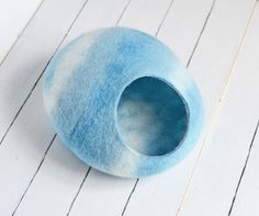 Katze-Höhle / Katze Bett / pet Bett / hellblau / von Storow auf Etsy