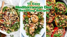 15 Easy Mediterranean Diet Meal Prep Recipes - Meal Prep on Fleek