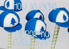 How to make Gravity Falls' Dipper's Hat Cake Pops!