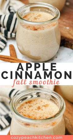 Start your day with this healthy creamy apple cinnamon smoothie This vegan recipe is perfect for breakfast and is made without bananas or yogurt smoothierecipes vegansmoothie veganbreakfast healthysnacks Apple Cinnamon Smoothie, Smoothie Recipes With Yogurt, Apple Cinnamon Oatmeal, Yogurt Smoothies, Apple Smoothies, Healthy Breakfast Smoothies, Vegan Smoothies, Easy Smoothies, Cinnamon Apples