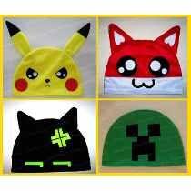 Touca Anime - Pikachu Mario Creeper Pokemon - Frete + Barato