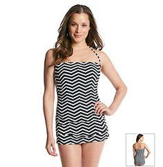 f9a76b69790c5 Ivanka Trump™ Chevron Bandeau Swimdress Swim Dress