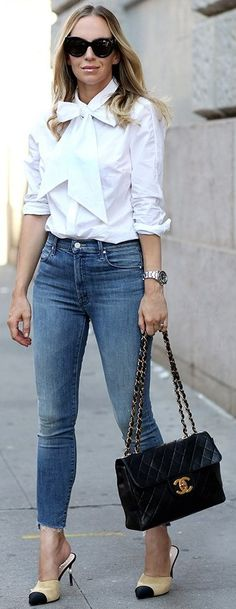 #fall #style #looks Jumbo Vintage Chanel Bag + Chanel Mules