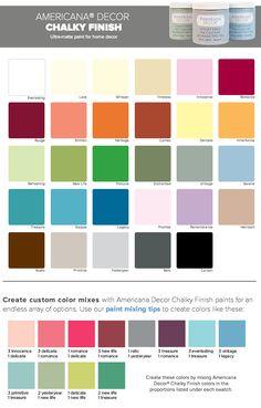 Decoart Americana Chalk Paint Colors Get It At Soooo Much Cheaper Than The Annie Sloan