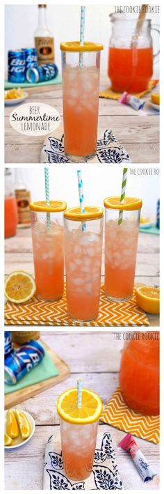 Pink Summer Shandy, or Summertime Lemonade. Love the idea of citrus fly covers.