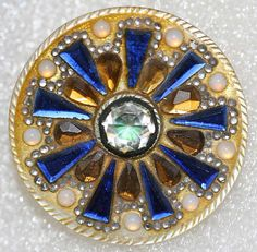 1780s French paste & mother-of-pearl button.