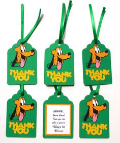 Thank You Favor Tags Personalized Pluto by ScrapsToRemember, $12.00