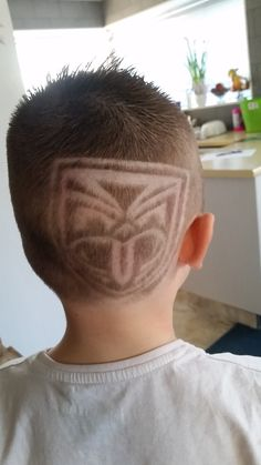Blake from #Christchurch with his #Warriors #Haircut #Tiki #Lines #HairStyle #Fan