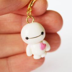 Adorable polymer clay Baymax charm from Creative Rachy on Store Envy #BH6 #handmade