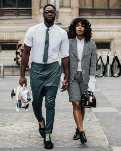 ♡ Ƒօӏӏօա ʍҽ ƒօɾ ʍօɾҽ թins yօu'ɾҽ ցօnnɑ ӏօѵҽ ♥️ Gabrielle Union and Dwyane Wade crushed Paris Fashion Week Street Look, Street Style 2017, Men Street, Street Wear, Street Styles, Paris Street, Couple Style, Couple Look, Couple Goals