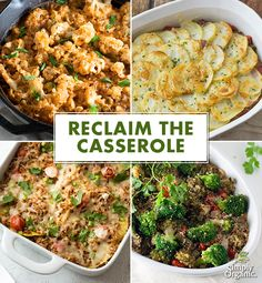 Enjoy casseroles as they were meant to be: warm and nourishing comfort food. Try these new and inspired recipes. #casserolerecipes