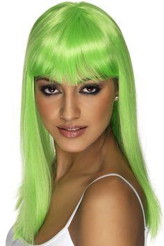 Green Glamour Donna Parrucca Costume sirena Adulti Costume Di Halloween Accessorio