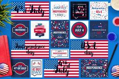 4th Of July Banners by barsrsind on @creativemarket