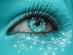 Shining Aqua by keashie on DeviantArt Verde Tiffany, Azul Tiffany, Shades Of Turquoise, Shades Of Blue, Pretty Eyes, Beautiful Eyes, Turquoise Eyes, Aqua Eyes, Turquoise Makeup
