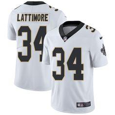 Youth Nike New Orleans Saints #34 Marshon Lattimore Limited White NFL Jersey