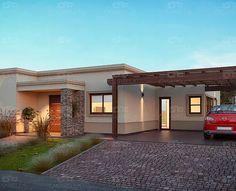 Casarella diseña cada proyecto a tu gusto y necesidad. Modern House Facades, Modern Bungalow House, Modern House Design, Flat Roof House, Facade House, House Front, Exterior Wall Design, Home Deco, Future House
