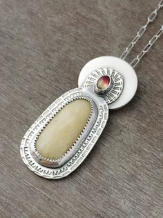 Yellow sapphire necklace  bicolor tourmaline necklace  by prox