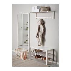ЧУСИГ Скамья с полкой для обуви - 81x50 см, белый - IKEA