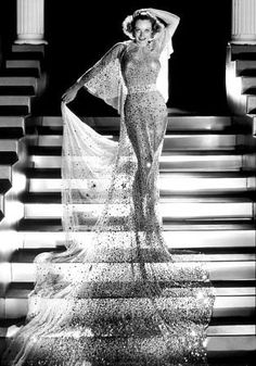 Gilbert Adrian costume for Joan Crawford in Dancing Lady directed by Robert Z.Leonard. Photo by George Hurrell, 1933