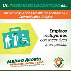Buscaremos la promoción de empleos para adultos mayores, recién egresados y personas con discapacidad #HermosilloConTodo