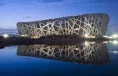 Beijing National Stadium – Beijing, China Chinese architect Li Xinggang and Swiss architects Jacques Herzog and Pierre de Meuron Famous Architectural Buildings, Famous Architecture, Chinese Architecture, Architecture Design, Creative Architecture, Architecture Wallpaper, Famous Buildings, Famous Landmarks, Modern Buildings