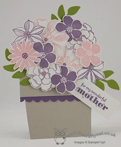 Video Tutorial: For My Mother Flowerpot Card using Stampin' Up! Secret Garden Stamps and Framelits Mother's Day, Birthday Card, Delightful Dosen, Secret Garden Stamps and Framelits, Joanne James Stampin' Up! UK Independent Demonstrator, blog.thecraftyowl.co.uk