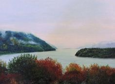 18 x 24 Oil Painting ~View of the Hudson @ West Point Academy (Trophy Point)