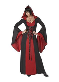 Deluxe Hooded Gown | Cheap Gothic/Vampire Halloween Costume for Women