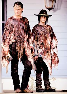The Walking Dead Season 6 Episode 8 'Start to Finish' Rick and Carl Grimes