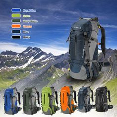 c9b22beb05be 25   Lixada 50L Large Waterproof Travel Bags Outdoor Climbing Backpack  Camping Hiking Bicycle Sports Backpacks Bag Tactical Backpack-in Climbing  Bags from ...