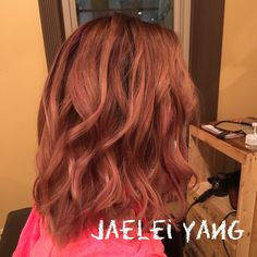 Rose gold, rosy, balayage, violet, pink, hair, soft beach waves, hairstylist, bold salon, appleton, wi, hair by jaelei yang