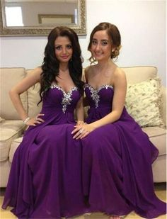 Charming Prom Dress,Chiffon Bridesmaid Dress,Sweetheart Bridesmaid Dress,Beading Evening Dress,315