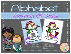 Snowman QR codes to help keep your ESL, ELLs up to speed with letter recognition. Letter Identification, Teacher Assistant, Cute Snowman, Letter Recognition, Qr Codes, Your Teacher, Esl, Teaching Ideas, Alphabet