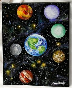 Art painting acrylic art canvas art deep space by ThisArtToBeYours, $70.00