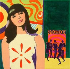 Mod 60s fashion illustration