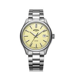 Stainless Steel Bracelet, Stainless Steel Case, Rotary Watches, Oxford White, 3 O Clock, Quartz Watch, Calf Leather, Bracelet Watch, Ebay