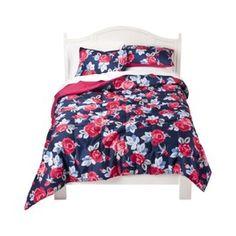 Rose floral comforter. $39.99 at Target.