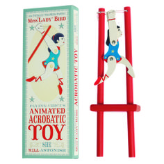 Miss Lady Bird Acrobatic Wooden Trapeze Toy Price - £3.95 http://www.dotcomgiftshop.com/acrobat-trapeze-toy