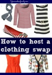 How to become a stay at home mom on one income-clothing swap