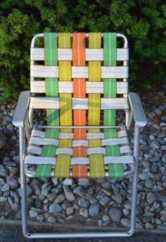 Vintage lawn chairs aluminum webbed lawn chairs vintage chair camping equipment home decor retro folding chaise Love Vintage, Vintage Design, Vintage Toys, Retro Vintage, Vintage Stuff, 70s Furniture, Vintage Furniture, Best Memories, Childhood Memories