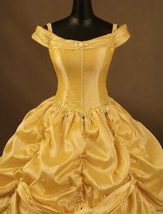 Beauty and  the Beast  Belle Adult Cosplay Costume Gown Dress
