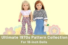 How to Create Perfect Outfits For Dolls on Pixie Faire American Girl Doll Julie, Custom American Girl Dolls, American Girl Clothes, Girl Doll Clothes, Doll Clothes Patterns, Doll Patterns, Clothing Patterns, American Girls, Diy Doll