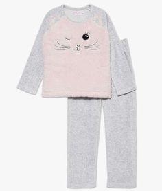 Pyjama gris motif chat Rose Vetement Pour Chat, Vetement Enfant Fille,  Vêtements Filles b8abc82c2f19