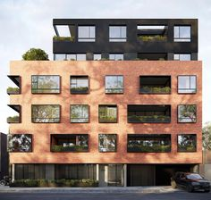 Inspired by the traditional red brick warehouse that occupies the site in the tightly-held Melbourne enclave of Clifton Hill, Alexandra by Ola Studio celebrates the past while looking to the future. Site Analysis Architecture, Brick Architecture, Residential Architecture, Architecture Sketchbook, Victorian Architecture, Architecture Portfolio, Interior Architecture, Building Facade, Building Design