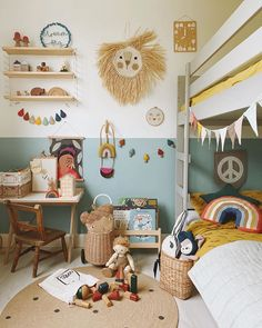 50 Cheerful Gender-Neutral Kids Playroom Ideas to Surprise Your Precious Ones Bedroom Storage Ideas For Clothes, Bedroom Storage For Small Rooms, Kids Bedroom, Boy Toddler Bedroom, Toddler Rooms, Baby Room Design, Baby Room Decor, Home Decoracion, Kids Decor