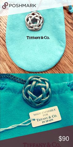 Authentic Tiffany and Co. pendant with chain Silver- hardly worn, 15' chain, original bag and tags. Retails for over $250 Tiffany & Co. Jewelry Necklaces