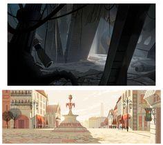 Cenários do seriado Sym-Bionic Titan, da Cartoon | THECAB - The Concept Art Blog